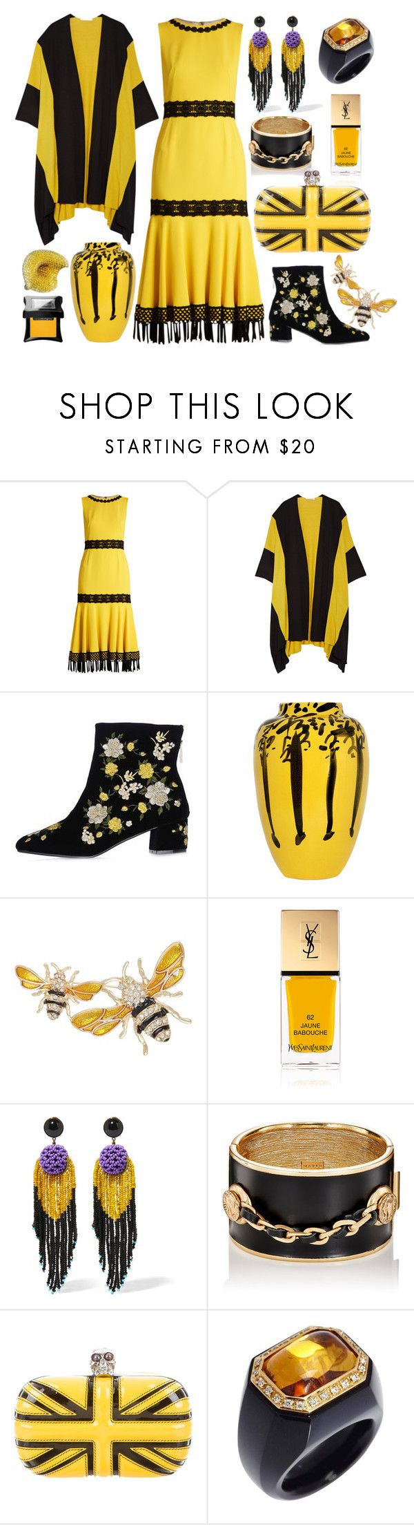 """A Dose Of Radiance☀️"" by yournightnurse ❤ liked on Polyvore featuring Dolce&Gabbana, Victor Alfaro, Topshop, Ceramica Gatti 1928, Napier, Yves Saint Laurent, Etro, Maison Mayle, Alexander McQueen and Palmiero"