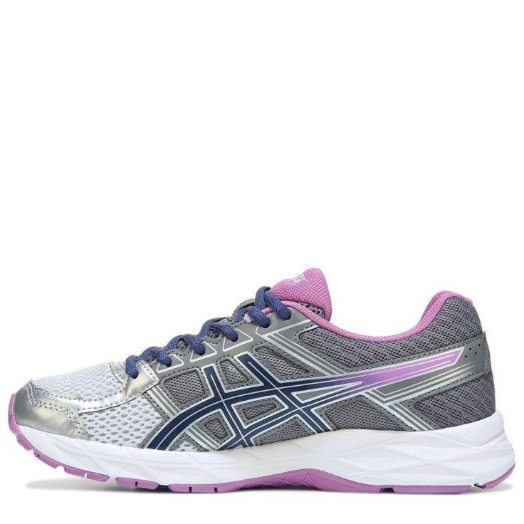 ASICS Women's Gel-Contend 4 Wide Running Shoes (Silver/Navy/Purple) - 10.0 W