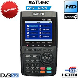 Mesureur de Champ Satellite HD - SATLINK WS 6916 - DVB-S2 - MPEG-4 - écran TFT LCD 3.5