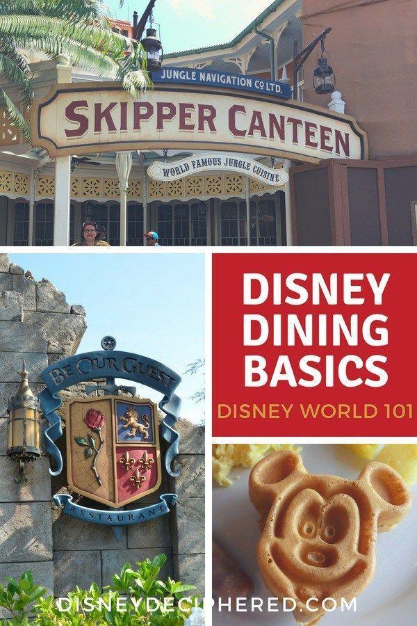 Dining Options At Disney World And Dining Basics Disney World