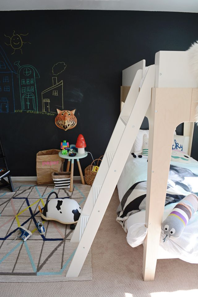 chalk board wall just one wall would be awesome for a creative outlet for the cool kids roomsroom
