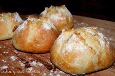 Bollos con sabor a pan de siempre, sin amasado (TMX / T)