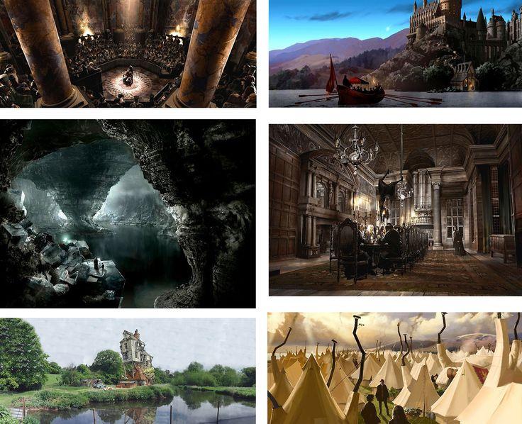 Harry Potter - The Art of Harry Potter Portfolio - Matched Set - Stuart Craig - World-Wide-Art.com - #harrypotter #jkrowling #stuartcraig