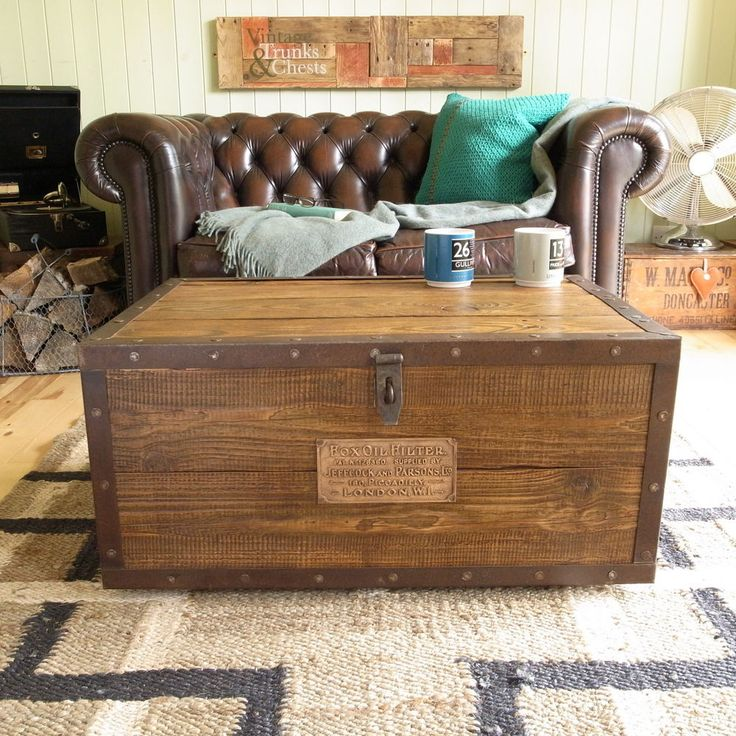 Wooden Chest Trunk Blanket Box Coffee Table By WCountryWoodworking, £93.00  | To Make | Pinterest | Blanket Box, Wooden Chest And Coffee Table Ottoman