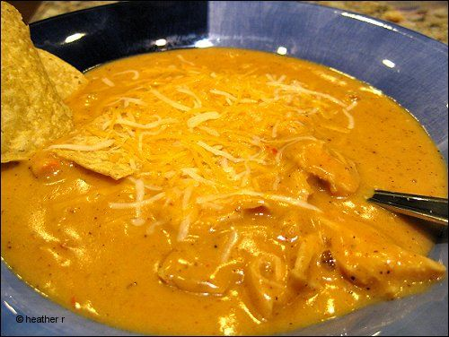 cheesy chicken tortilla soup - some of you midwest folks may know it as Ground Round tortilla soup :)