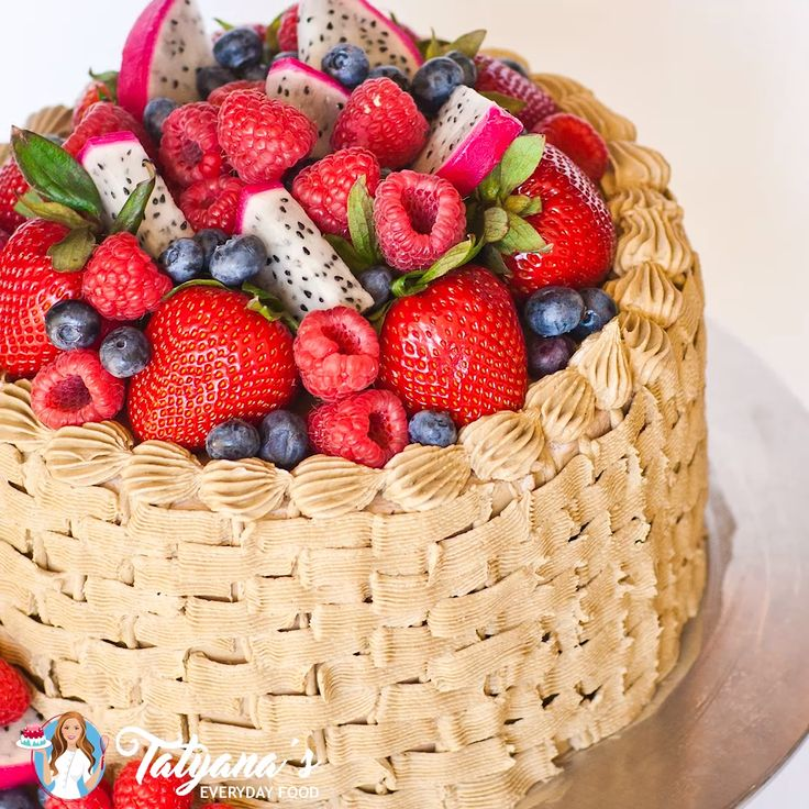 How To Make a Basket Weave Cake (video)   Recipe in 2020 ...