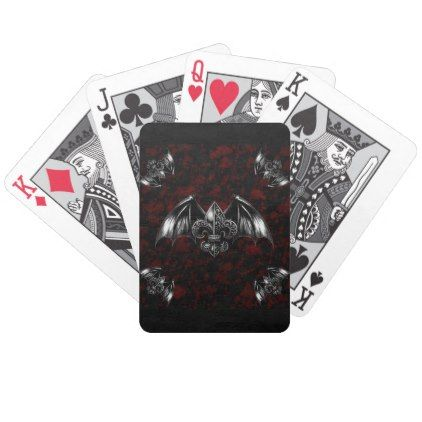 #Vampire Lord Gothic Art Bicycle Playing Cards - #Halloween happy halloween #festival #party #holiday