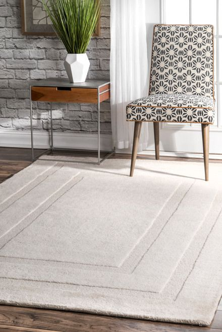 Rugs USA Ivory Tuscan Double Border Solid Rug