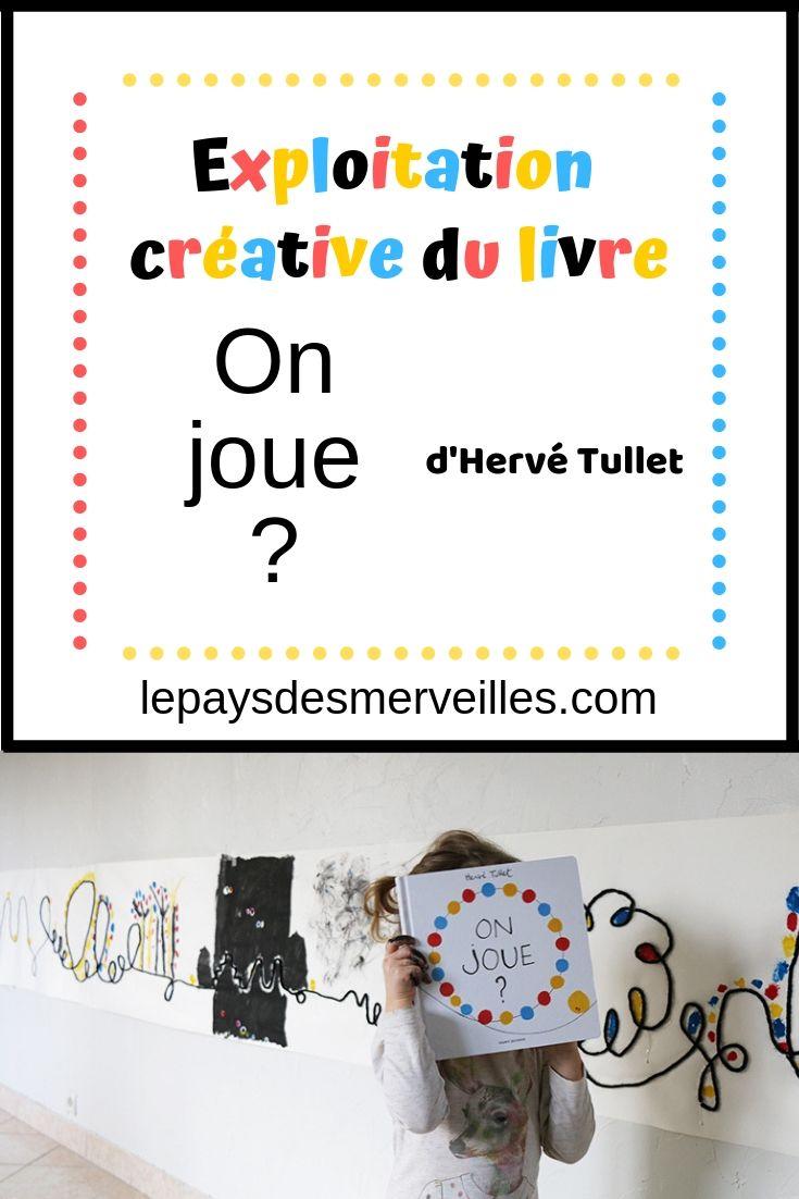 Exploitation Creative Du Livre Qout On Joue Qout D Herve Tullet Herve Tullet Activite Artistique Maternelle Art Jeunes Enfants
