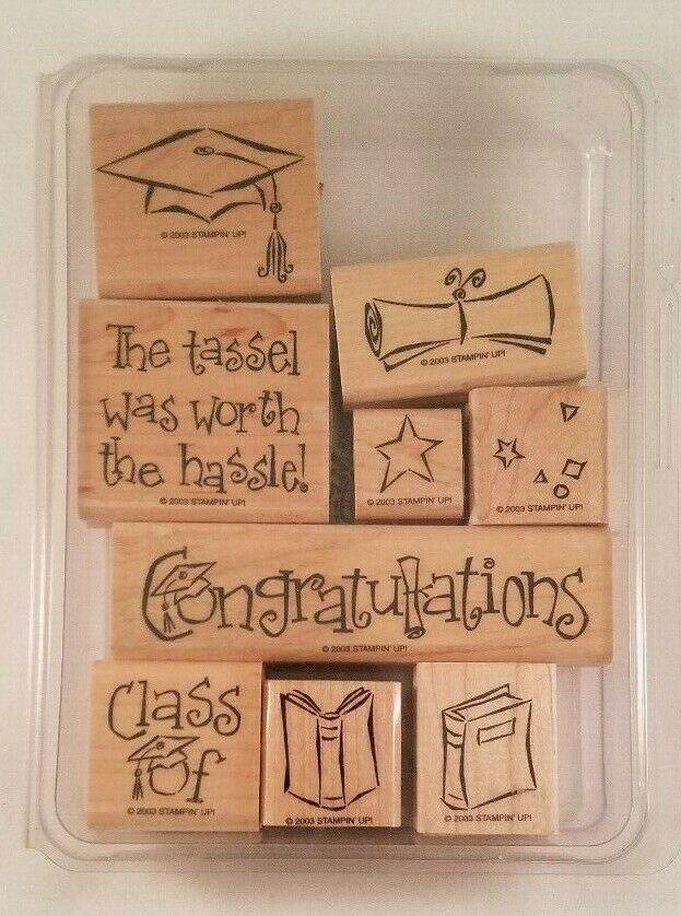 Graduation Rubber Stamps Set