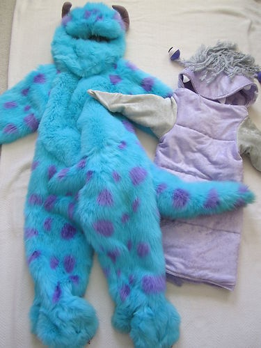 disney store monsters inc sully plush halloween costume 4 6t boo mike - Monsters Inc Baby Halloween Costumes