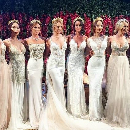 THIS TIME LAST YEAR ✨The GALA by @galialahav collection was officially launched with us at our press show in Sydney! ✨ Love these gorgeous, fashion-forward gowns with headpieces from the one and only @viktorianovak ✨ flower wall by the incomparable @fleur_events ✨ hair by @natalieannehair ✨ MUA @jennydo_ ✨ photography by @inlightenphotography ✨ red rose favours from @_missadamsflorist_ ✨ marquee letter lights by @sammyandlola ✨ venue @doltonehouse ✨ #GALAbygalialahav #galialahav #GALAaus