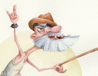 "Check out new work on my @Behance portfolio: ""Old rocker"" http://be.net/gallery/35943313/Old-rocker"