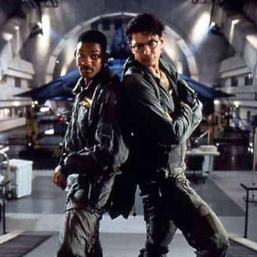 Jeff Goldblum and Will Smith in Independence Day.