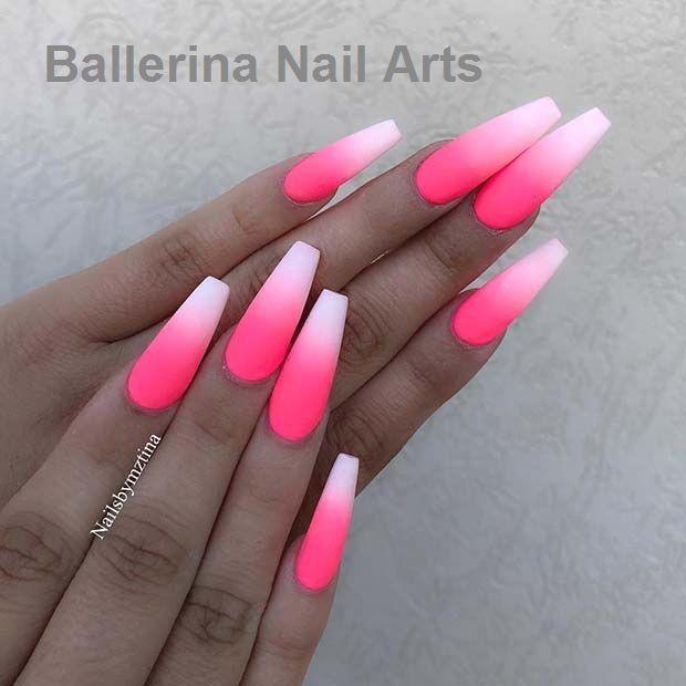 45 lustige Möglichkeiten, Ballerina-Nägel zu tragen   – Ballerina Nail art