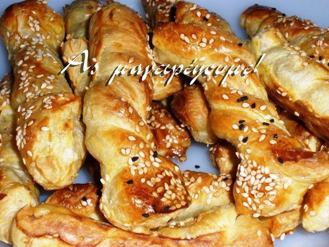 Η απόλαυση της βρώσης ~ Ας μαγειρέψουμε: Σφολιατοστριφτάκια