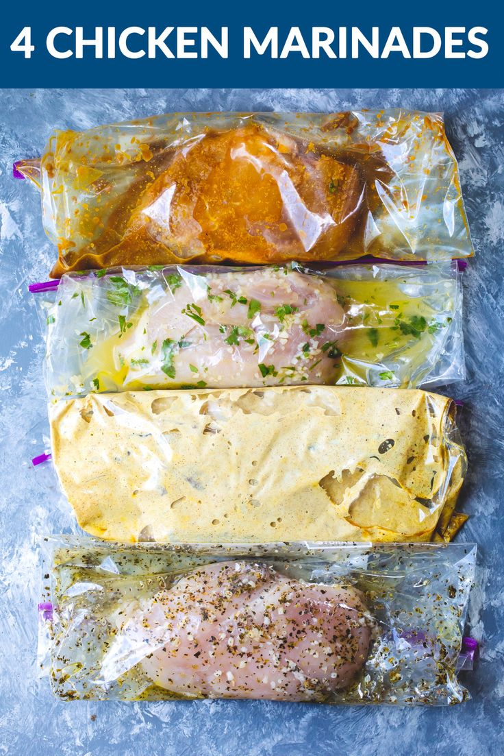 4 Easy Chicken Marinades + Living Lean & Clean with Just BARE Chicken videos!   Ambitious Kitchen