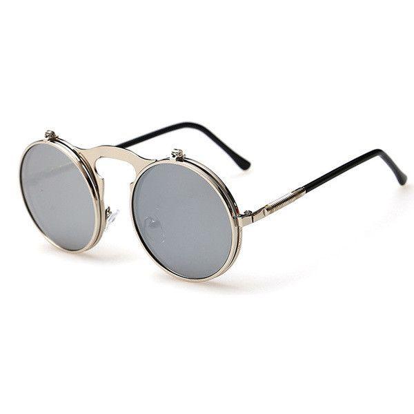 Vintage Steampunk Sunglasses Round
