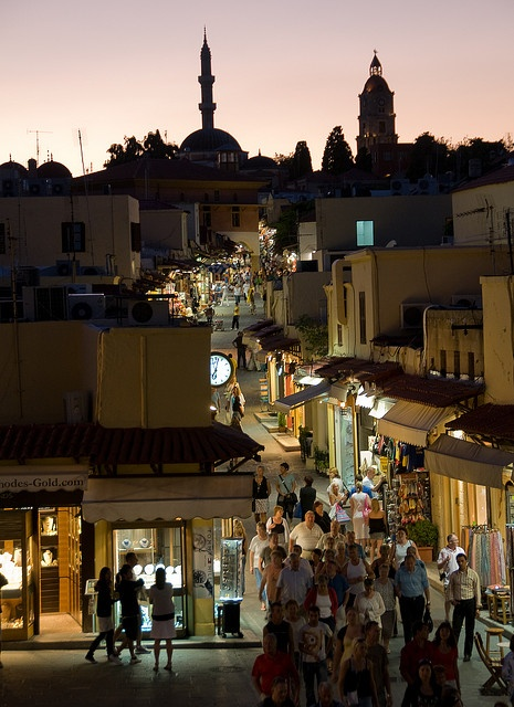 Rhodes Old Town After Dark by Bracketing Life, via Flickr