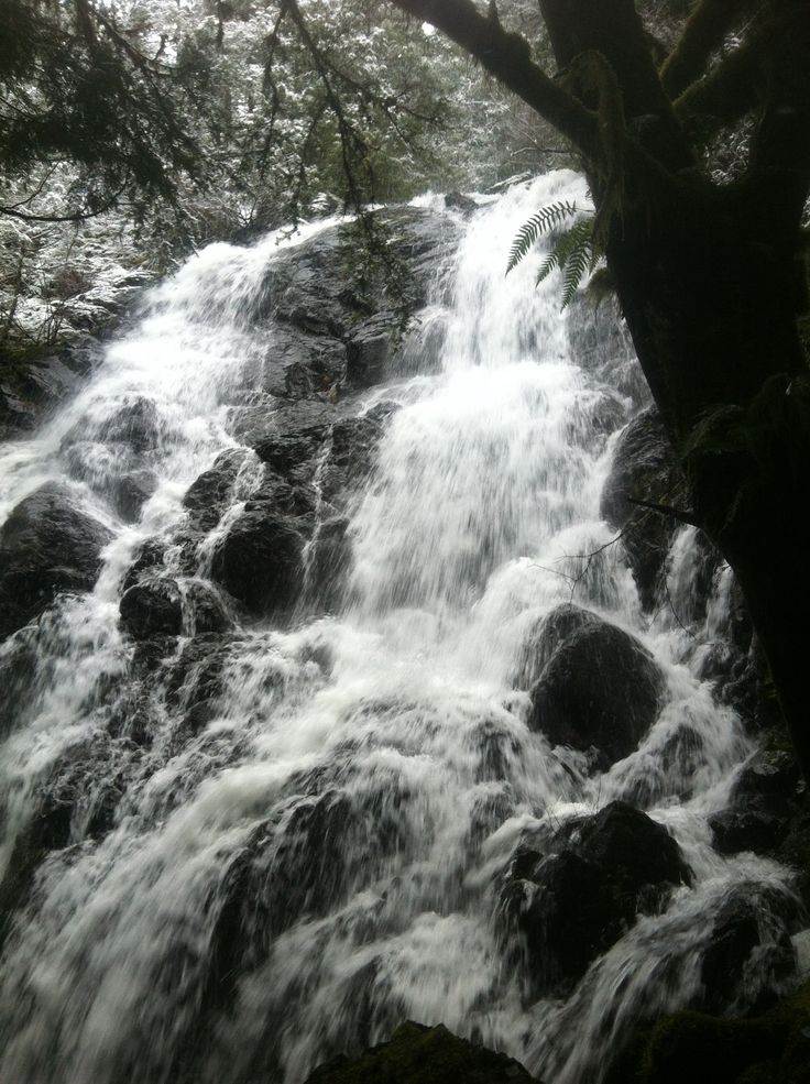 Beautiful waterfalls only 15 min hike from Sooke Potholes parking. Sooke, BC Vancouver Island