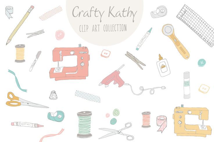 Crafty Kathy Clip Art & Vector by Angie Makes on Creative Market