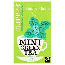 Clipper Green Tea With Mint 25 Tea Bags 50g