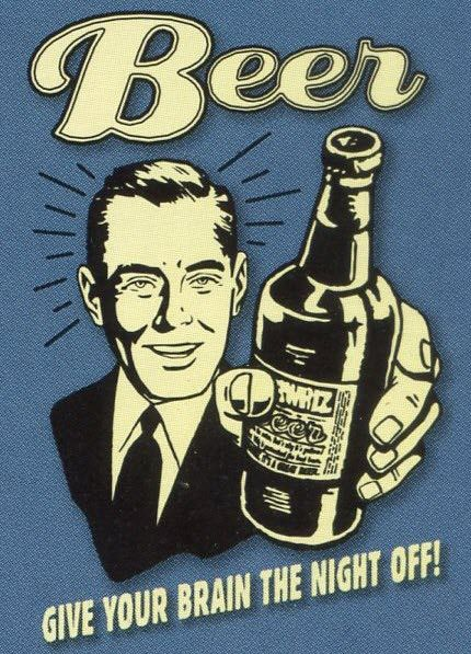 retro spoof poster beer