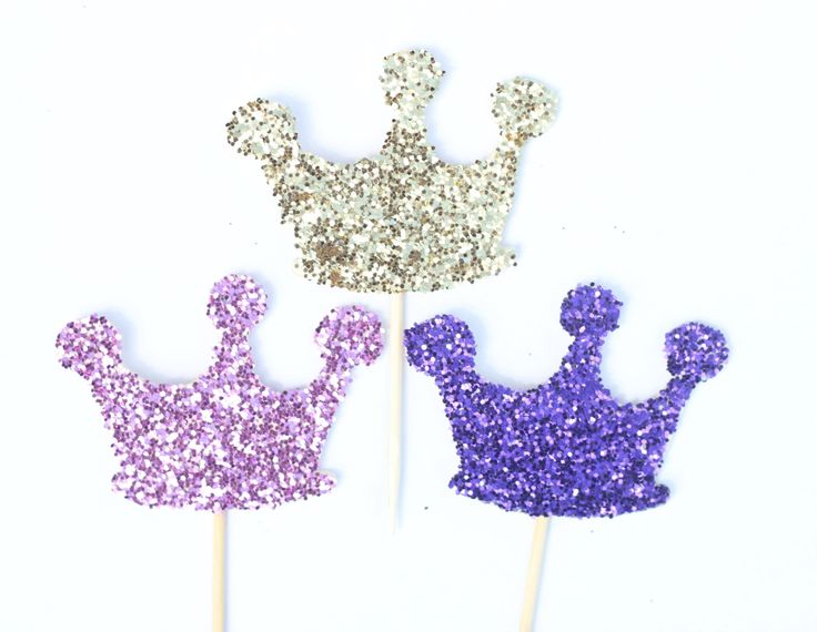Glitter Princess Crown Cake Toppe -  Multiple Color Options by ThePartyGirlStudio on Etsy https://www.etsy.com/listing/229206825/glitter-princess-crown-cake-toppe