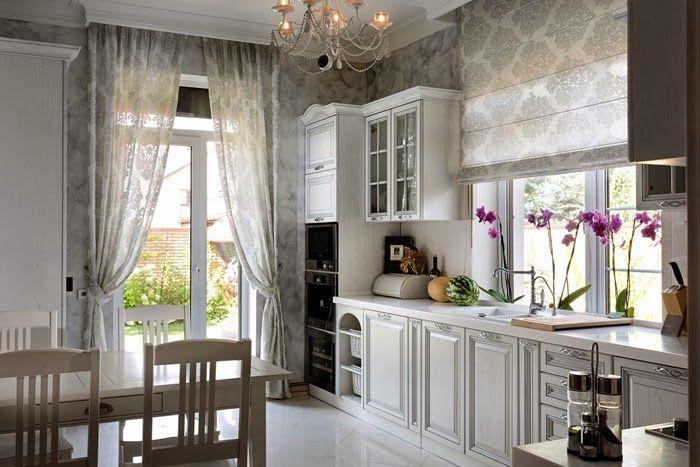 При создании интерьера в стиле прованс, помимо белого и всех светлых оттенков, можно добавлять яркие акценты свежей зелени, благородного синего, лавандовый и фиолетовый цвета, коричневый, серый, оливковый.
