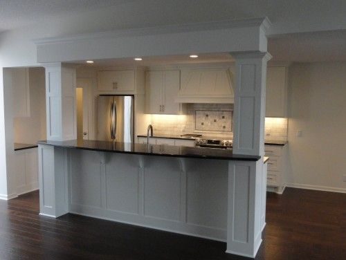 Kitchen Island With Columns if i have to have columns. these are good ones.( raised island