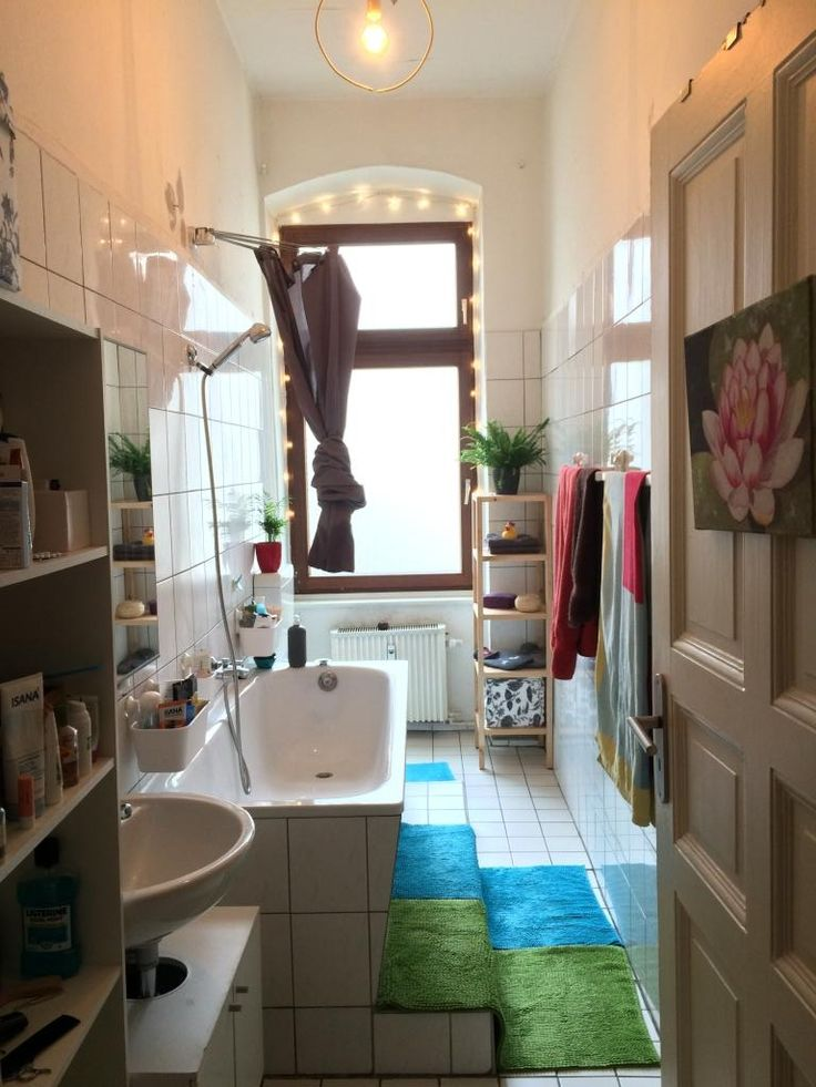 High Quality Helles Badezimmer Mit Lichterkette Eingerichtet. #Badezimmer #Bad  #Einrichtung #Bathroom Ideas