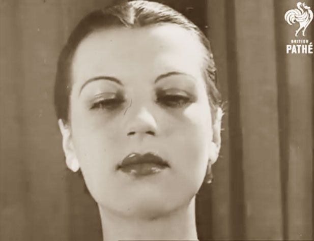 """Vintage Makeup Tutorial 1938 - Pathe archive. Making up – whether after a tip or a spot in the ladies room, is an art if only one knows how. And continental beauty experts say that one must be able to size up the face as well. In other wards – makeup is made to measure! """""""