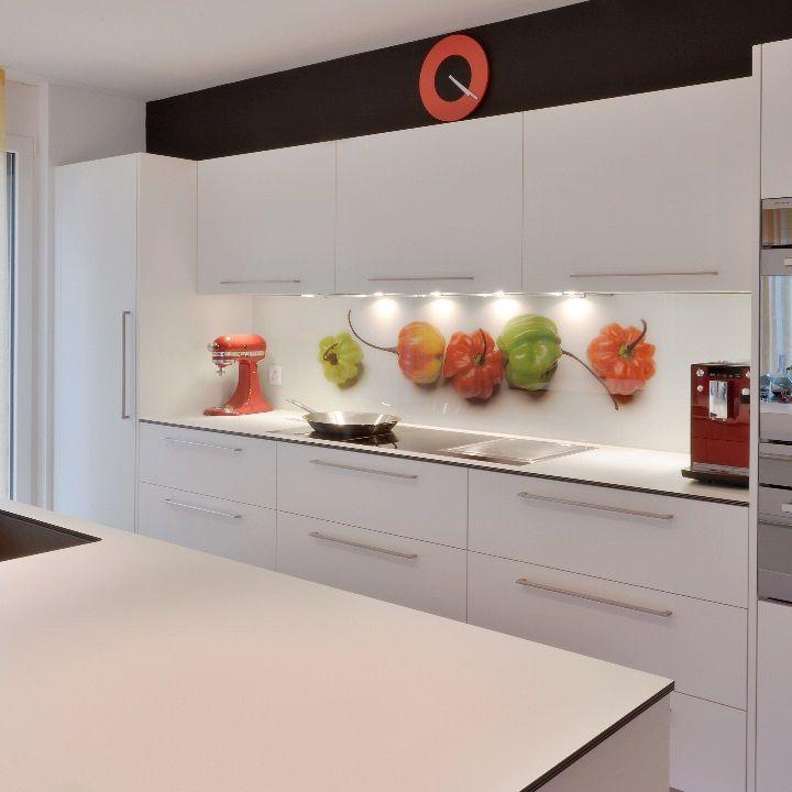 25 glasr ckwand k che. Black Bedroom Furniture Sets. Home Design Ideas