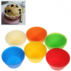 12PCS Lovely Silicone Muffins Cup Cake Model with Different Colors - 3.40$
