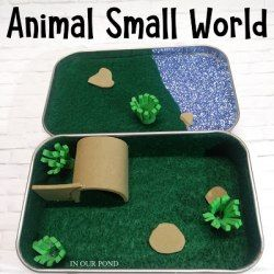 How to Make an Animal Small World in an Altoid Tin - In Our Pond