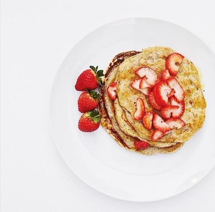 Vegan Crepes w/ Strawberries
