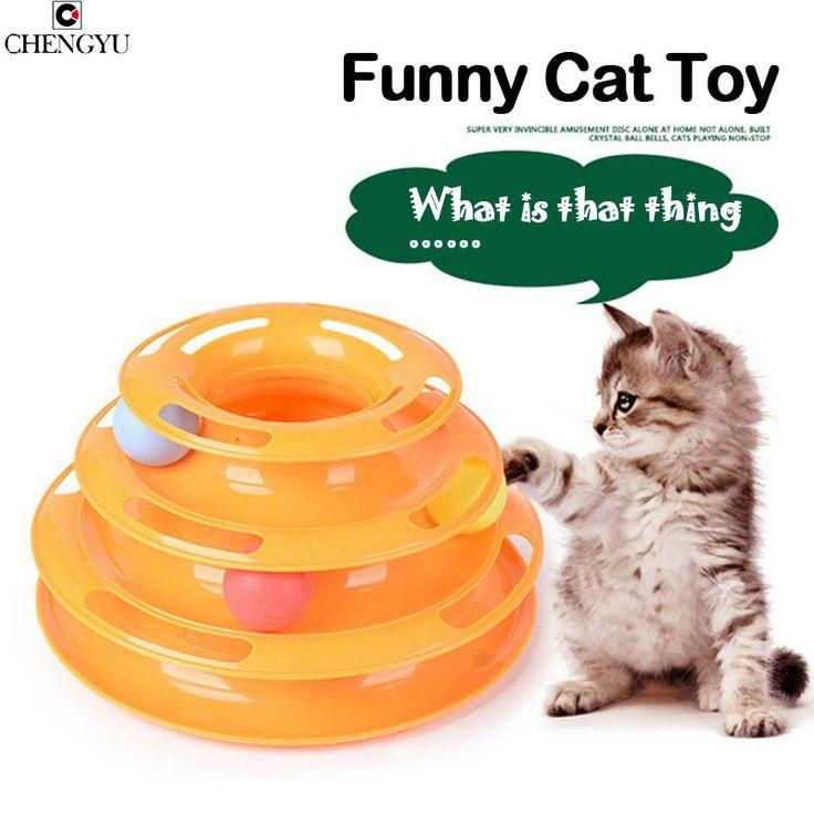 New Sale Anti Slip Orginal Design Amusement Intelligence Dog Cat Toys Three Tower Of Tracks Turntable Ball Pet Products