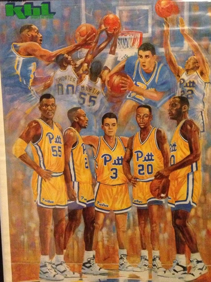 Late 80s Pitt Basketball poster from KBL sports network