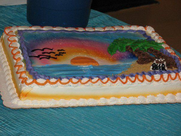 My Wedding Groom S Cake For My Hubby Sheet Cake Beach