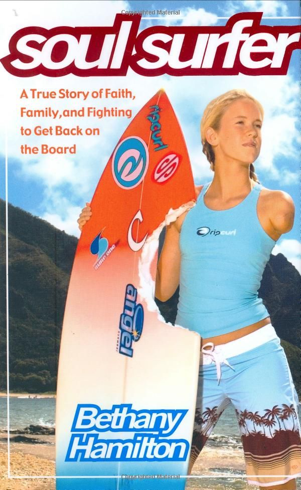 If you have some tweens/teens in your life who like to read - this is the true, inspirational story of Bethany Hamilton. Worth your while.