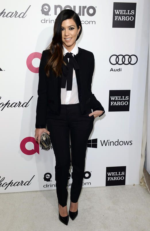 Kortney Kardashian. Red Carpet Report Card: 2014 Oscar Parties