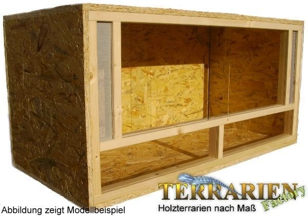 OSB Holz Terrarium 100x50x50 cm von Terrarien Factory