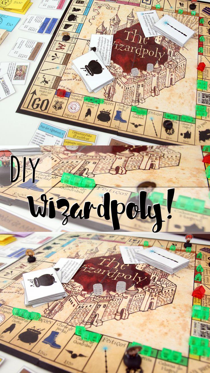 DIY | como montar o Wizardpoly, Pottopoly ou Monopoly de Harry Potter, como você preferir chamar!