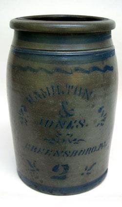Hamilton and Jones Cobalt Decorated Early American Antique Stoneware , Greensboro, Pa.