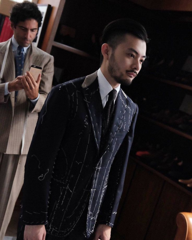 Modern tailoring techniques employed by Gianfrancesco. Trunkshow day 2! (at The Armoury Hong Kong)