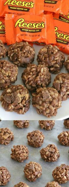 These No-Bake Reese's Krispie Cookies from Kitchen Fun with My Three Sons are the BEST cookies ever!!! They are so incredibly easy to make and your kids will LOVE them. Seriously, make extra because they will be gone before you know it.