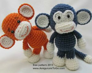 Make Your Own Monkey ~ free pattern. OMG I have to have one of these little guys!!!!!