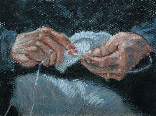 Knitting With Arthritic Hands : Best images about knitting art on pinterest vintage