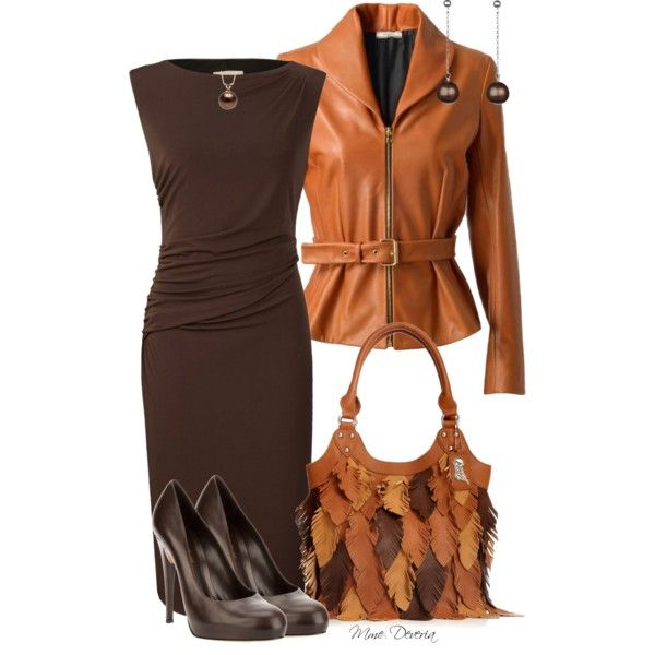 A fashion look from February 2013 featuring below knee dresses, Bouchra Jarrar and brown high heel shoes. Browse and shop related looks.