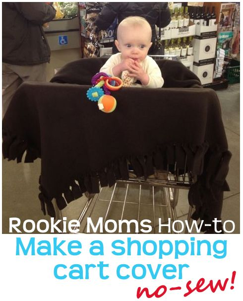 How to Make a Shopping Cart Cover - No sewing required (and not 60 bucks like other organic ones)